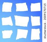 scrap paper. torn pieces of...   Shutterstock .eps vector #2009170715