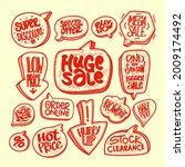 doodle style sale vector... | Shutterstock .eps vector #2009174492