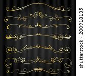 set of vintage victorian vector ... | Shutterstock .eps vector #200918135