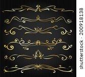 set of vintage victorian vector ... | Shutterstock .eps vector #200918138