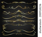 set of vintage victorian vector ... | Shutterstock .eps vector #200918156