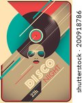 disco night poster design.... | Shutterstock .eps vector #200918786