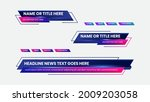 graphic set of broadcast news... | Shutterstock .eps vector #2009203058
