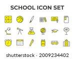 school set icon  isolated...   Shutterstock .eps vector #2009234402