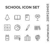 school set icon  isolated...   Shutterstock .eps vector #2009234405