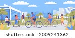 different people walking and...   Shutterstock .eps vector #2009241362