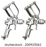 spray gun   Shutterstock .eps vector #200925062