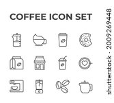 coffee set icon  isolated...   Shutterstock .eps vector #2009269448