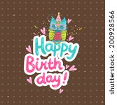 happy birthday greeting... | Shutterstock .eps vector #200928566