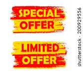 special and limited offer... | Shutterstock .eps vector #200929556