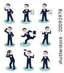 series of funny little... | Shutterstock .eps vector #20092978