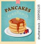 vector vintage styled pancakes... | Shutterstock .eps vector #200930135