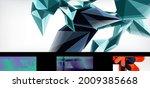 set of vector geometric... | Shutterstock .eps vector #2009385668