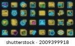 browser icons set. outline set...