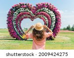 young woman in pink dress and... | Shutterstock . vector #2009424275