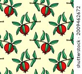 vector seamless pattern with... | Shutterstock .eps vector #2009462672