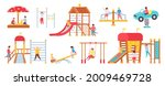 children at playground... | Shutterstock .eps vector #2009469728
