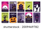 posters for halloween party.... | Shutterstock .eps vector #2009469782