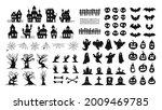 halloween silhouettes. spooky... | Shutterstock .eps vector #2009469785
