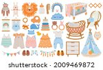 baby furniture and clothes.... | Shutterstock .eps vector #2009469872
