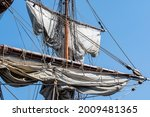 Mast With Sails On An Old...