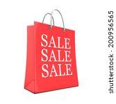 3d render of a shopping bag... | Shutterstock . vector #200956565