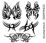ta too symbol set isolated on...   Shutterstock .eps vector #200959622