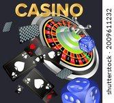 casino banners. inscription ...   Shutterstock .eps vector #2009611232