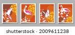 over  ewith pelican  parrot ...   Shutterstock .eps vector #2009611238