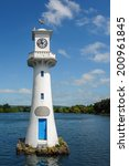 Small photo of CARDIFF, WALES - JUNE 8 : Lighthouse in Roath Park commemorating Captain Scotts ill-fated voyage to the Antartic in Cardiff on June 8, 2013