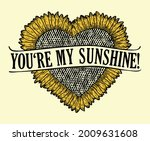 you are my sunshine t shirt... | Shutterstock .eps vector #2009631608