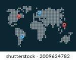 the pixel scheme of the globe... | Shutterstock .eps vector #2009634782