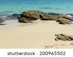 nature scene tropical beach and ... | Shutterstock . vector #200965502