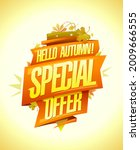 hello autumn  special autumn...   Shutterstock .eps vector #2009666555