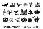 happy halloween collection....   Shutterstock .eps vector #2009672888