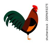 colorful rooster. multicolored...   Shutterstock .eps vector #2009693375