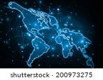 best internet concept of global ... | Shutterstock . vector #200973275
