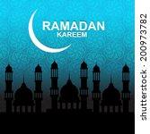 ramadan background | Shutterstock .eps vector #200973782