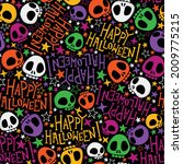 seamless pattern with festive...   Shutterstock .eps vector #2009775215