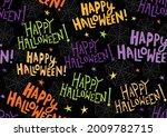 colorful happy halloween... | Shutterstock .eps vector #2009782715