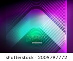neon color square shape lines... | Shutterstock .eps vector #2009797772