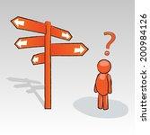 3d man with signpost | Shutterstock .eps vector #200984126