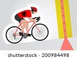 albanian cyclist riding upwards ...   Shutterstock .eps vector #200984498