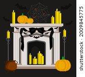 halloween home decoration ... | Shutterstock .eps vector #2009845775