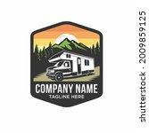 camper van or recreational... | Shutterstock .eps vector #2009859125