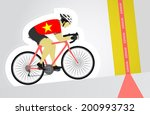 vietnamese cyclist riding...   Shutterstock .eps vector #200993732