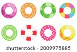 set of bright inflatable... | Shutterstock .eps vector #2009975885