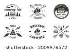 camping emblem designs. vector... | Shutterstock .eps vector #2009976572