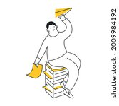 launching paper planes from a... | Shutterstock .eps vector #2009984192