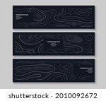 set of topography flyers.... | Shutterstock .eps vector #2010092672